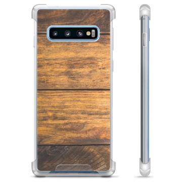 Samsung Galaxy S10+ Hybrid Case - Wood