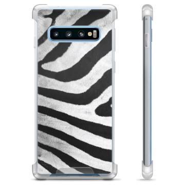 Samsung Galaxy S10 Hybrid Case - Zebra