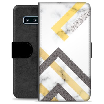 Samsung Galaxy S10+ Premium Wallet Case - Abstract Marble