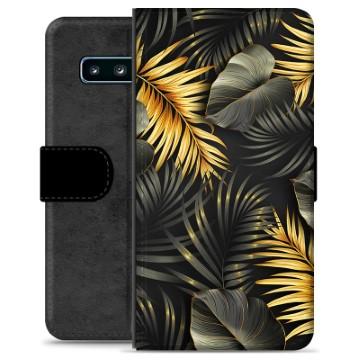 Samsung Galaxy S10+ Premium Wallet Case - Golden Leaves