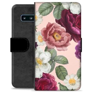 Samsung Galaxy S10+ Premium Wallet Case - Romantic Flowers