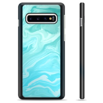 Samsung Galaxy S10+ Protective Cover - Blue Marble