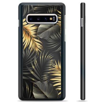 Samsung Galaxy S10+ Protective Cover - Golden Leaves