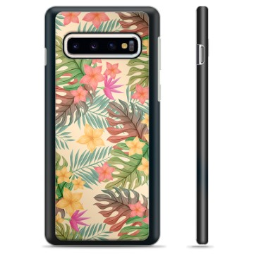 Samsung Galaxy S10+ Protective Cover - Pink Flowers