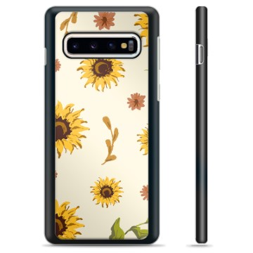 Samsung Galaxy S10 Protective Cover - Sunflower