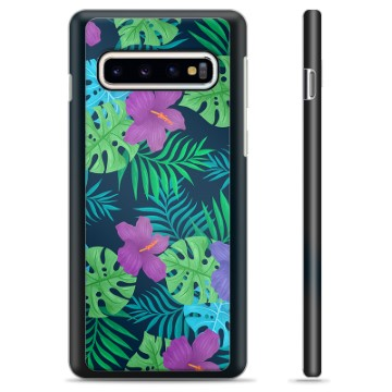 Samsung Galaxy S10 Protective Cover - Tropical Flower