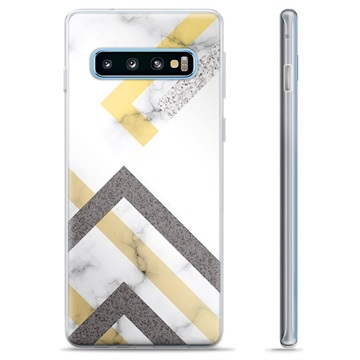 Samsung Galaxy S10+ TPU Case - Abstract Marble