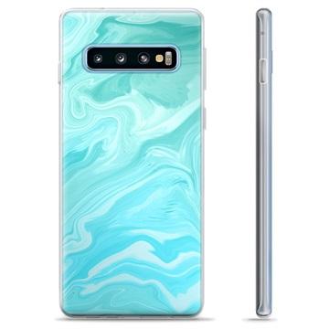 Samsung Galaxy S10+ TPU Case - Blue Marble