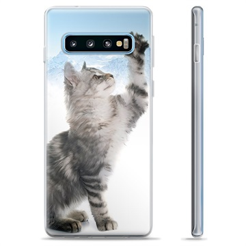 Samsung Galaxy S10+ TPU Case - Cat