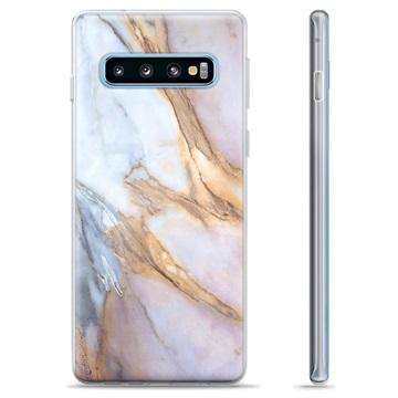 Samsung Galaxy S10+ TPU Case - Elegant Marble