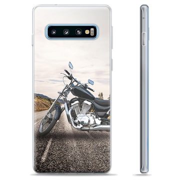 Samsung Galaxy S10+ TPU Case - Motorbike