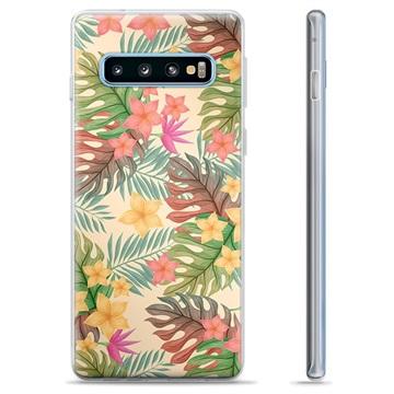 Samsung Galaxy S10+ TPU Case - Pink Flowers