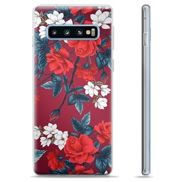 Samsung Galaxy S10+ TPU Case - Vintage Flowers