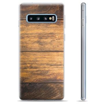 Samsung Galaxy S10+ TPU Case - Wood