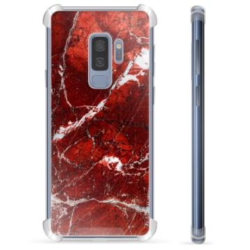 Samsung Galaxy S9+ Hybrid Case - Red Marble