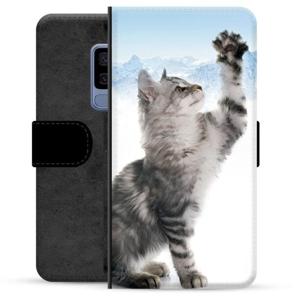 Samsung Galaxy S9+ Premium Wallet Case - Cat