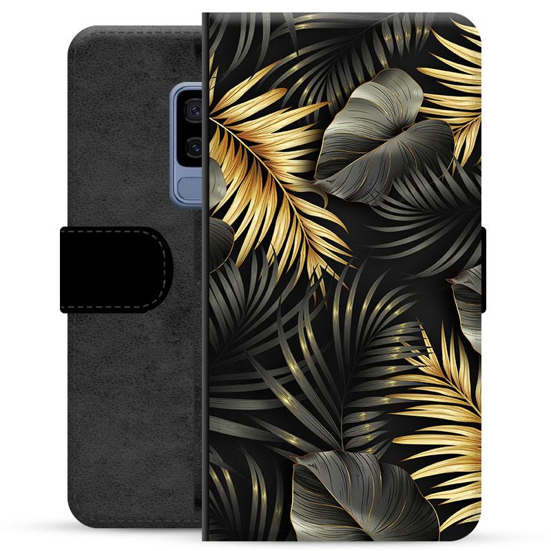 Samsung Galaxy S9+ Premium Wallet Case - Golden Leaves