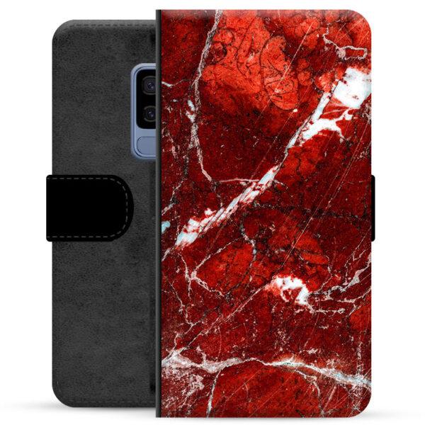 Samsung Galaxy S9+ Premium Wallet Case - Red Marble