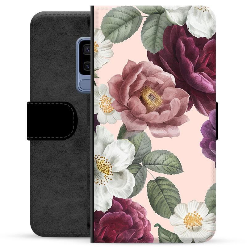 Samsung Galaxy S9+ Premium Wallet Case - Romantic Flowers