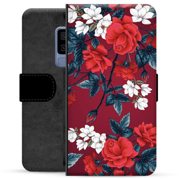 Samsung Galaxy S9+ Premium Wallet Case - Vintage Flowers