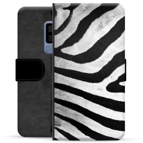Samsung Galaxy S9+ Premium Wallet Case - Zebra