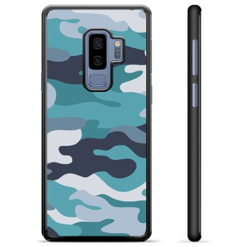Samsung Galaxy S9+ Protective Cover - Blue Camouflage