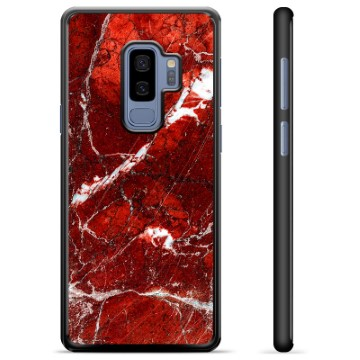 Samsung Galaxy S9+ Protective Cover - Red Marble