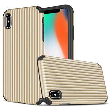 Suitcase Series iPhone XS Max Hybrid Case - Gold
