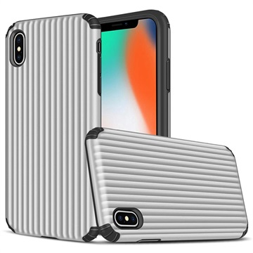 Suitcase Series iPhone XS Max Hybrid Case - Silver