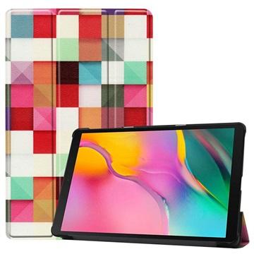 Tri-Fold Series Samsung Galaxy Tab A 10.1 (2019) Folio Case - Colorful