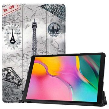 Tri-Fold Series Samsung Galaxy Tab A 10.1 (2019) Folio Case - Eiffel Tower