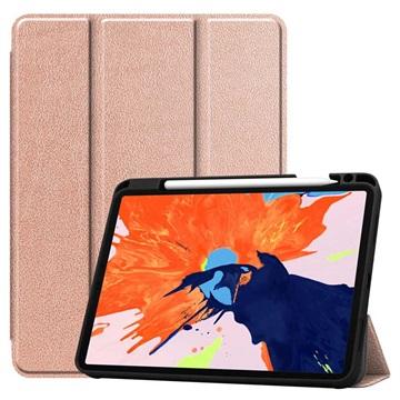 Tri-Fold Series iPad Pro 12.9 (2020) Flip Case - Rose Gold