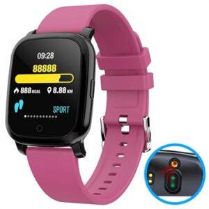 Waterproof Bluetooth Smartwatch w/ IR Thermometer CV06 - Hot Pink
