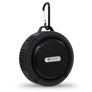 Waterproof Bluetooth Speaker with Suction Cup C6 - Grey / Black