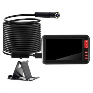 Waterproof HD Endoscope Camera with LCD Display & Holder - 10m