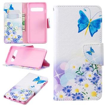 Wonder Series Samsung Galaxy S10 Wallet Case - Blue Butterfly