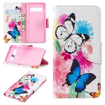 Wonder Series Samsung Galaxy S10 Wallet Case - Butterflies