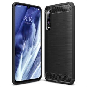 Xiaomi Mi 9 Pro Brushed TPU Case - Carbon Fiber - Black