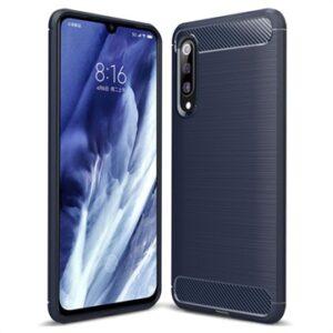 Xiaomi Mi 9 Pro Brushed TPU Case - Carbon Fiber - Dark Blue