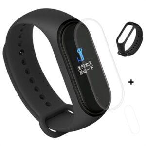 Xiaomi Mi Band 4 Silicone Wristband & TPU Screen Protector - Black