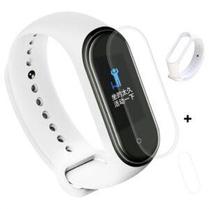 Xiaomi Mi Band 4 Silicone Wristband & TPU Screen Protector - White