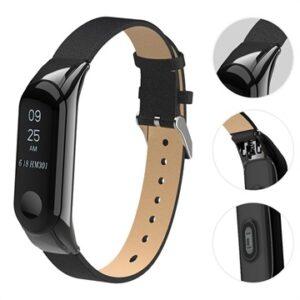 Xiaomi Mi Smart Band 4 Leather Strap - Black