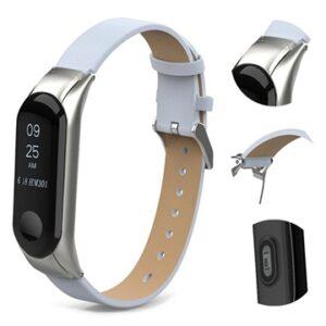 Xiaomi Mi Smart Band 4 Leather Strap - White
