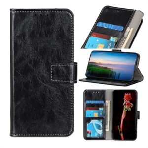 Xiaomi Redmi 9 Wallet Case with Magnetic Closure - Black