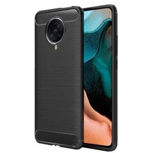Xiaomi Redmi K30 Ultra Brushed TPU Case - Carbon Fiber - Black