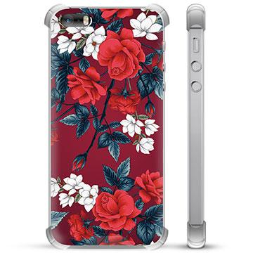 iPhone 5/5S/SE Hybrid Case - Vintage Flowers