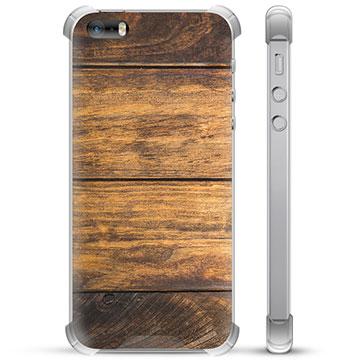 iPhone 5/5S/SE Hybrid Case - Wood