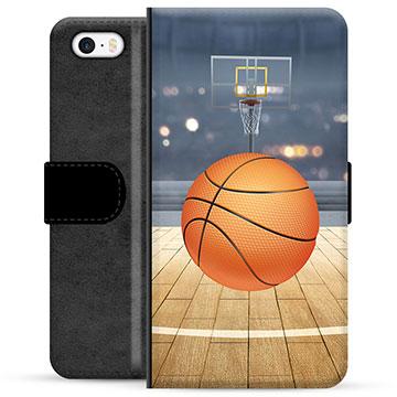 iPhone 5/5S/SE Premium Wallet Case - Basketball