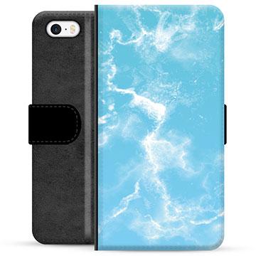 iPhone 5/5S/SE Premium Wallet Case - Blue Marble