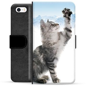 iPhone 5/5S/SE Premium Wallet Case - Cat